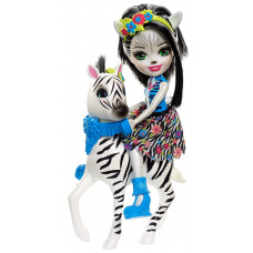 Кукла Enchantimals Зелена Зебра с любимой зверюшкой, 15 см, FKY75